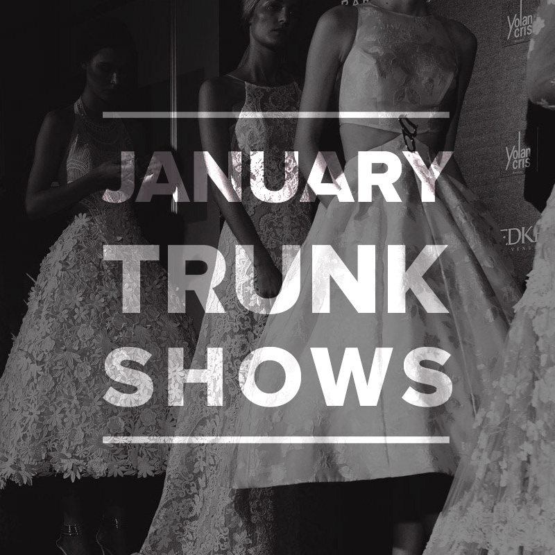 Wedding Dress Trunk Shows January 2015