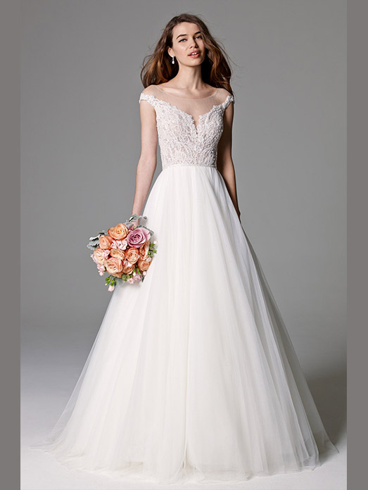 Discount designer wedding dresses flower girl dresses for Affordable wedding dress designers