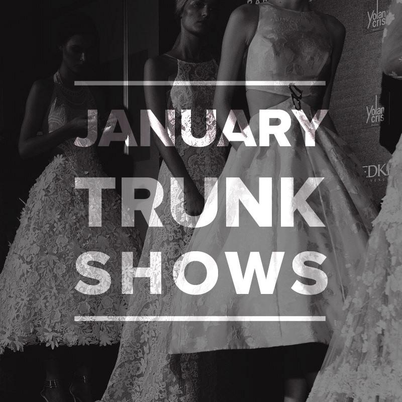 Wedding Dress Trunk Shows January 2015